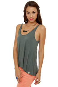 Obey Heartbreaker Slate Tank Top at Lulus.com!