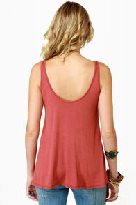 Obey Heartbreaker Rust Red Tank Top at Lulus.com!