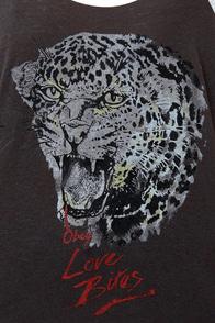 Obey Love Bites Nubby Raglan Top at Lulus.com!