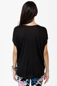 Obey Straight Line Knit Black Tee at Lulus.com!