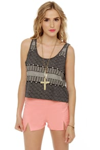 Obey Captain\\\'s Daughter Print Tank Top