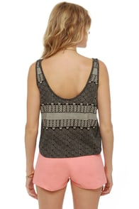 Obey Captain's Daughter Print Tank Top at Lulus.com!