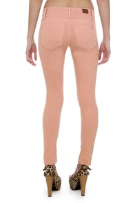 Obey Lean & Mean Blush Pink Jeans at Lulus.com!