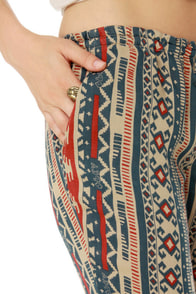 Obey Wanderer Bell Bottom Print Pants at Lulus.com!
