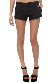 Obey Gentleman\\\'s Club Grey Cutoff Shorts