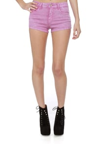 California Girls Acid Dye Purple Denim Shorts at Lulus.com!