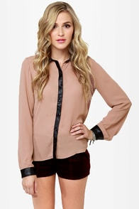 Livin' On the Edge Blush Button-Up Top at Lulus.com!