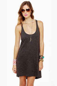 RVCA Get Born Grey Tank Dress