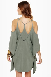 RVCA At Last Smoke Grey Dress at Lulus.com!