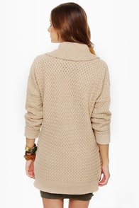 RVCA Wild Unknown Beige Sweater at Lulus.com!