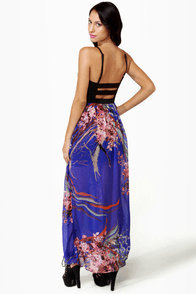Bad to the Bustier Blue Floral Print Maxi Dress at Lulus.com!