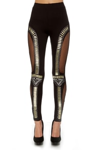 Did I Stud-her? Studded Black Leggings at Lulus.com!
