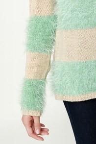 Polar Opposites Mint and Beige Sweater at Lulus.com!
