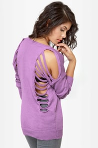 Need to Vent Cutout Lavender Sweater at Lulus.com!