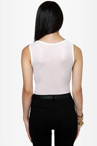 Stud-y Abroad Studded White Bodysuit at Lulus.com!