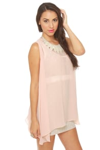 All Dolled Up Blush Pink Sheer Mini Dress at Lulus.com!