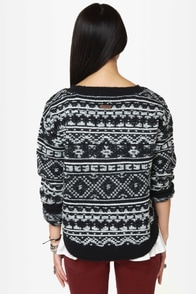 Roxy Elm Black Knit Sweater at Lulus.com!