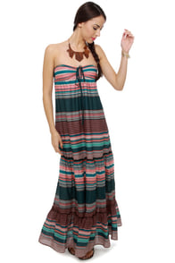 Roxy Born Dreamer Strapless Print Maxi Dress