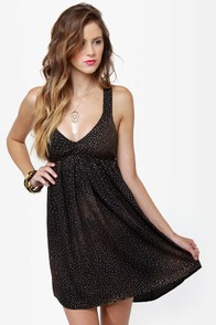 Roxy Love Seeker Black Print Dress
