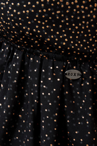 Roxy Love Seeker Black Print Dress at Lulus.com!