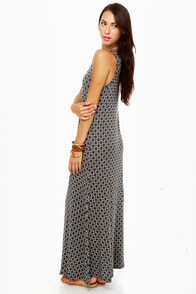 Moroccan and Rollin' Black Print Maxi Dress at Lulus.com!