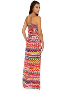 Someday My Prints Strapless Print Maxi Dress at Lulus.com!