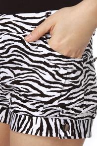Zumba Zebra Striped Shorts
