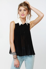 Rhinestone Cowgirl Beaded Black Top