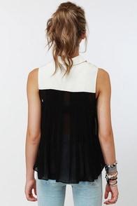 Rhinestone Cowgirl Beaded Black Top at Lulus.com!