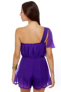 Pleat-y Little Things Purple Romper at Lulus.com!