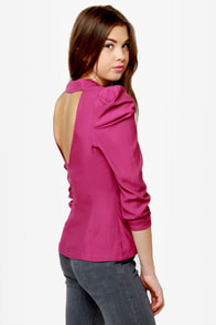 Baby, You're a Ruched Ma'am Magenta Top at Lulus.com!