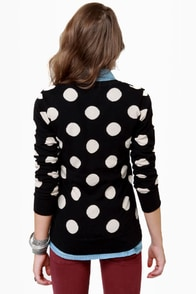 THML On the Dotted Line Polka Dot Sweater at Lulus.com!