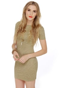 Photogenic Short Sleeve Olive Green Dress at Lulus.com!