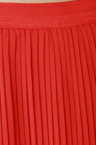 Bits and Creases Orange Maxi Skirt at Lulus.com!