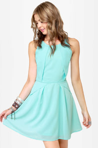 More, More, More-igami Light Blue Dress