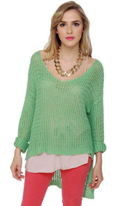 Instru-mint-al Beats Mint Sweater at Lulus.com!