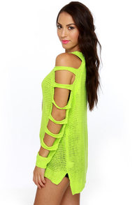 Ne-On Top of It Neon Green Sweater at Lulus.com!