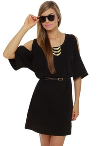 Chalkboard-er Town Washed Black Shirt Dress