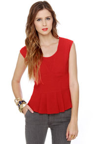 Teacher's Pep Red Top at Lulus.com!