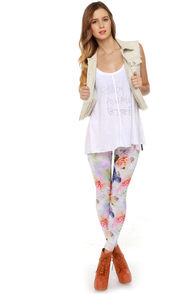 Volcom Hot Sunday Floral Print Leggings at Lulus.com!
