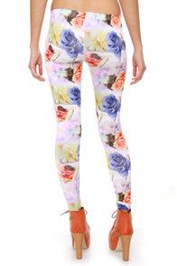 Volcom Hot Sunday Floral Print Leggings at Lulus.com!