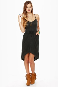 Volcom Autumn Spice Charcoal Grey Dress