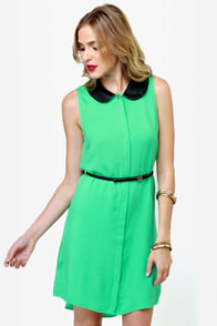 Volcom Over Our Heads Green Dress