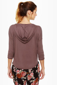 Volcom My Favorite Cropped Hoody Brown Top at Lulus.com!