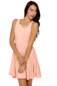 Take Me Back Cutout Peach Dress at Lulus.com!