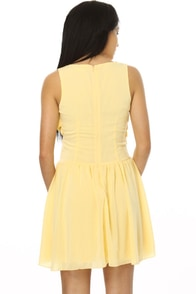 What's Up Buttercup Yellow Dress