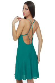 Web of Dreams Teal Dress