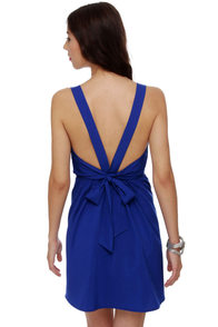 Monsoon Season Royal Blue Dress at Lulus.com!