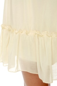 Dream Come True Cream One Shoulder Dress at Lulus.com!