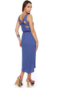 Walkabout Periwinkle Blue Midi Dress at Lulus.com!